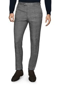 REISS Capital Glen Plaid Flannel Slim Fit Pants