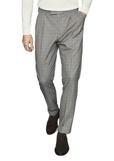 REISS Carp Check Slim Fit Trousers