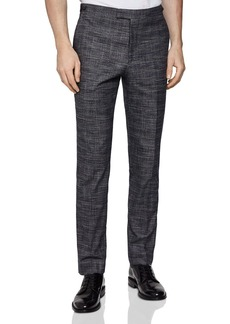 REISS Cheval Checked Slim Fit Pants