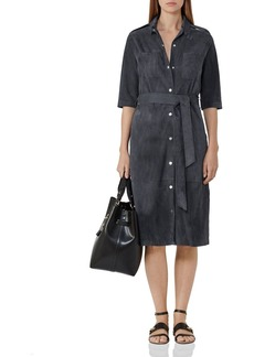 REISS Chloe Suede Shirt Dress