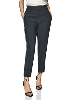 REISS Cleo Soft Satin-Trim Pants
