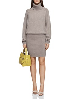 REISS Cyra Turtleneck Knit Dress