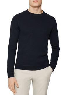 REISS Dakota Honeycomb Stitch Crewneck Sweater