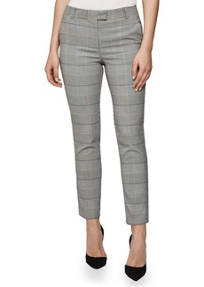 Reiss Deborah Glen Check Slim Ankle Trousers