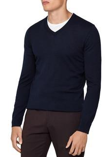 REISS Earl V-Neck Slim Fit Sweater