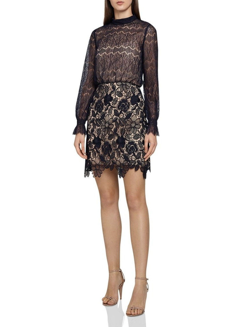 7a18ed79fce Reiss REISS Elie Mixed-Lace Dress Now $170.00