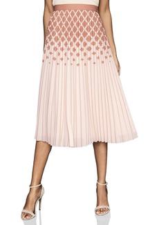 Reiss Elsa Diamond Print Ombré Pleat Skirt
