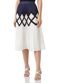 REISS Elsa Pleated Midi Skirt