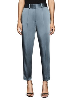REISS Elyssa Satin Straight-Leg Pants