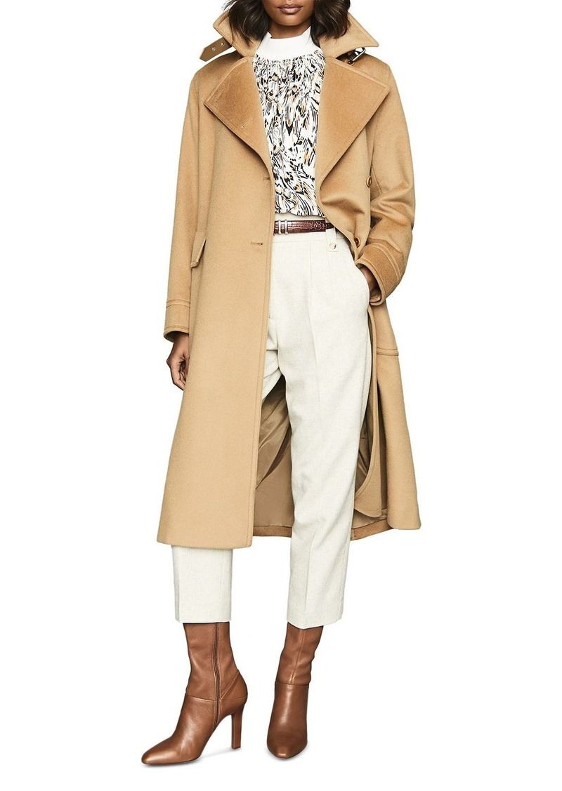 REISS Everley Premium Wool-Blend Trench Coat