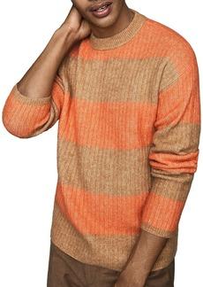 REISS Frazer Rugby-Stripe Sweater