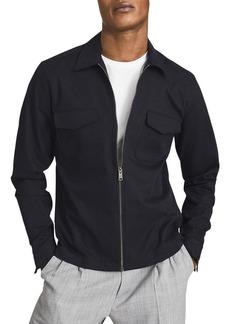 REISS Gemini Zip Front Overshirt