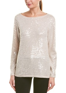 Reiss Gene Sequin Wool-Blend Sweater