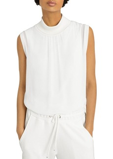 REISS Gilda Sleeveless Turtleneck Top