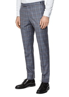 REISS Glover Checked Flannel Slim Fit Pants