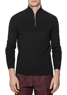 REISS Harold Ottoman Partial Zip Sweater