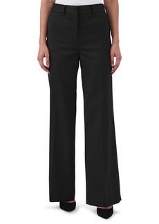 Reiss Harper Wide Leg Stretch Wool Trousers