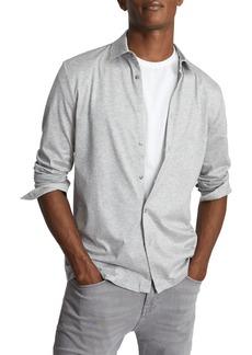 Reiss Hendon Heathered Button-Up Shirt