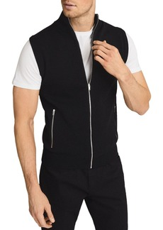 REISS Henry Zip Front Knit Vest
