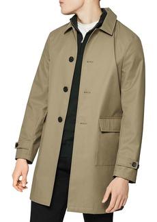 REISS Hidashi Single-Breasted Mid-Length Mac Coat