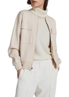 Reiss Ilah Front Zip Knit Jacket