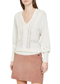 REISS Inari Open-Stitched Sweater
