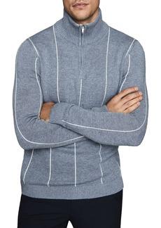REISS Innis Pinstripe Regular Fit Sweater