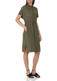 REISS Isabeli Drawstring-Waist Shirt Dress