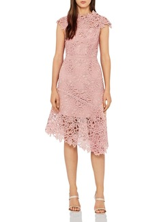 REISS Ivana Asymmetric Lace Dress