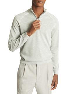 Reiss Jack Slim Fit Quarter Zip Pullover