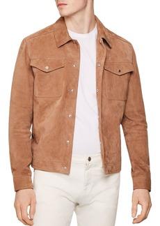 REISS Jagger Sand Trucker Jacket