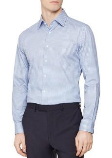 REISS James Diamond Geo Print Slim Fit Dress Shirt