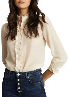 REISS Jemma Ruffled Detail Blouse