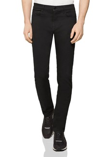 REISS Jet Straight Fit Jeans in Stay Black