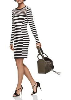 REISS Jolie Striped Knit Dress