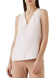 REISS Jorja Sleeveless Silk Top