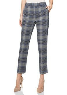 Reiss Josie Plaid Ankle Trousers