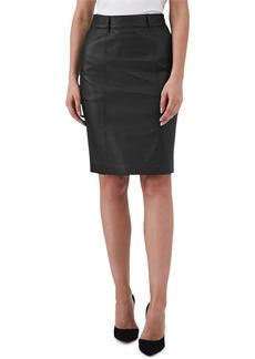 Reiss Kara Leather Pencil Skirt