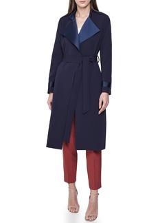 Reiss Katja Satin Detail Belted Coat