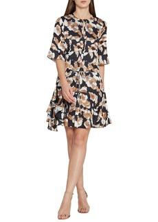 Reiss Kianni Floral Fit & Flare Dress