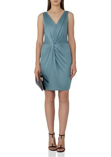 REISS Kiera Twist-Detail Dress