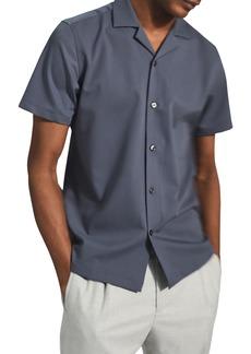 Reiss Lang Stretch Short Sleeve Button-Up Camp Shirt