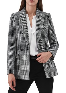 Reiss Langley Houndstooth Wool Blend Jacket