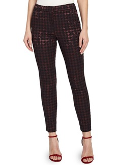 Reiss Laura Metallic Houndstooth Ankle Pants