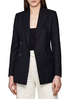 Reiss Ledbury Double Breasted Wool Blend Jacket
