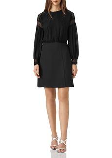 REISS Lia Lace-Inset Dress
