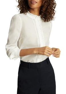 REISS Liddy Ruffled Detail Shirt