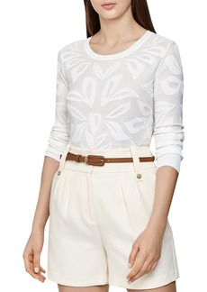 REISS Lily Burnout Sweater