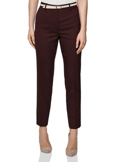 REISS Lissia Slim-Leg Textured Pants