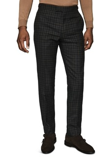 REISS Livesey Wool Gingham Slim Fit Trousers